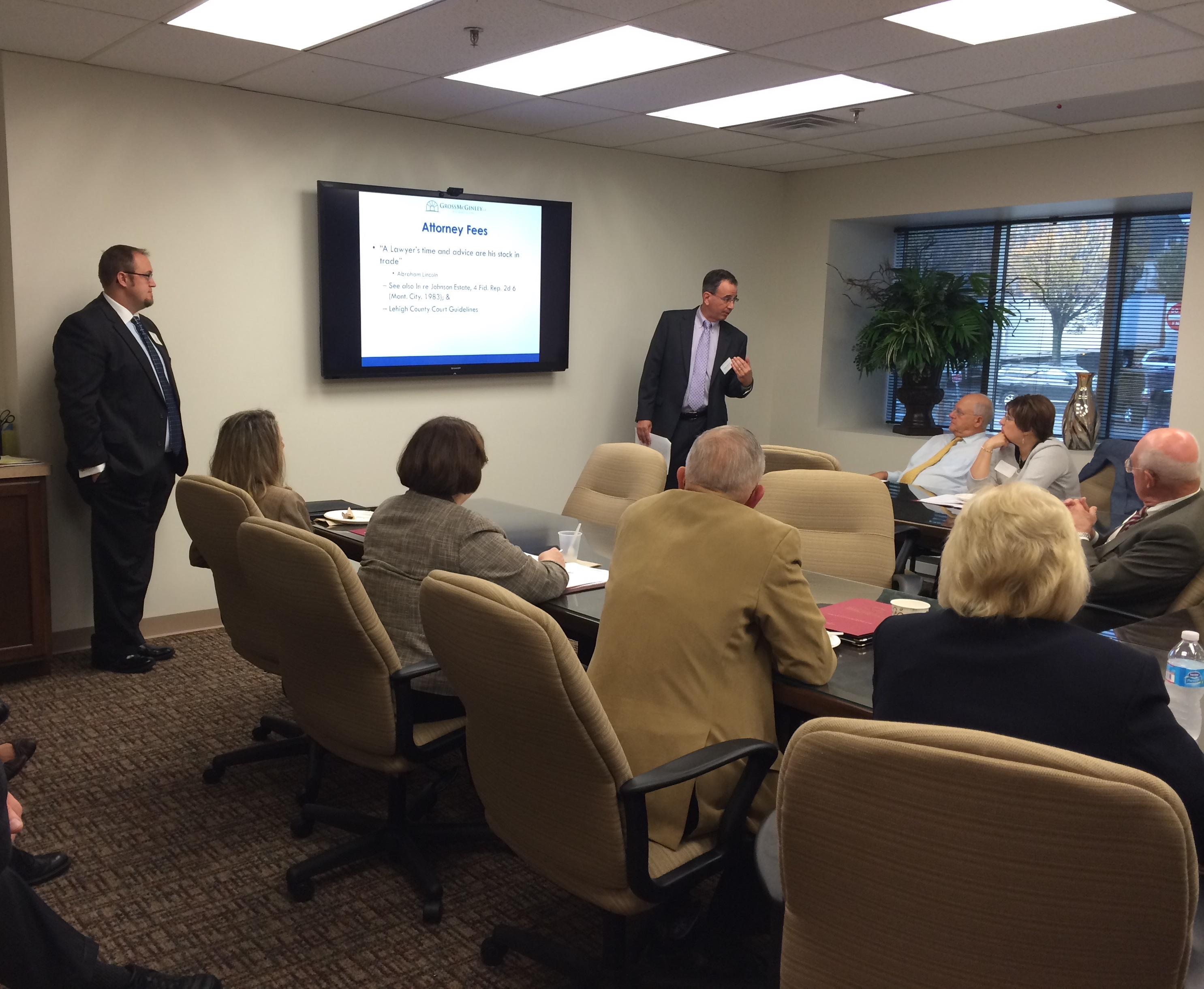 Gross McGinley's Wills, Trusts & Estates Group Presents TOD Accounts Seminar at Allentown Office