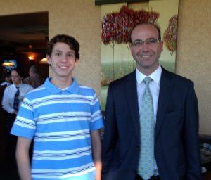 Sam Cohen and Foundation Ambassador, Trey Temple