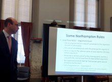 Samuel Cohen presenting CLE