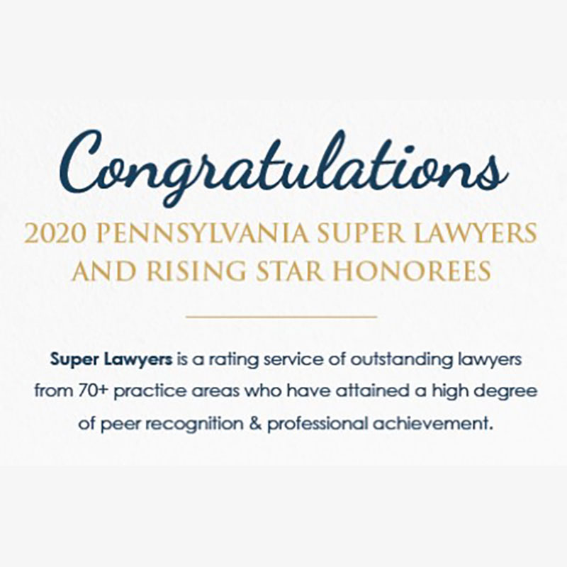Five Gross McGinley Attorneys Named to 2020 Pennsylvania Super Lawyers and Rising Stars List