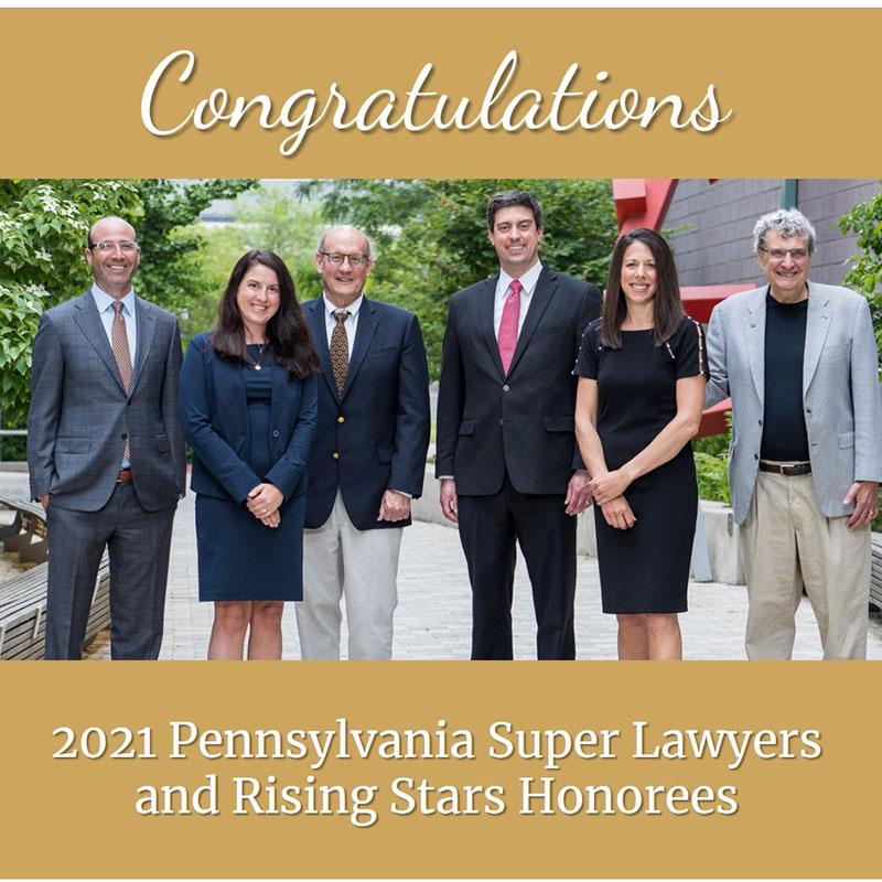 2021 Pennsylvania Super Lawyers Gross McGinley